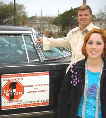 Raymond Plummer and Jessie Craig, owners of Galveston Onestop Cleaning